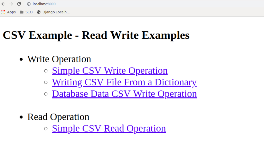 Django CSV Examples - How to Create CSV File With Django