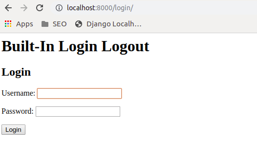 How to use Built-In Login and Logout System of Django