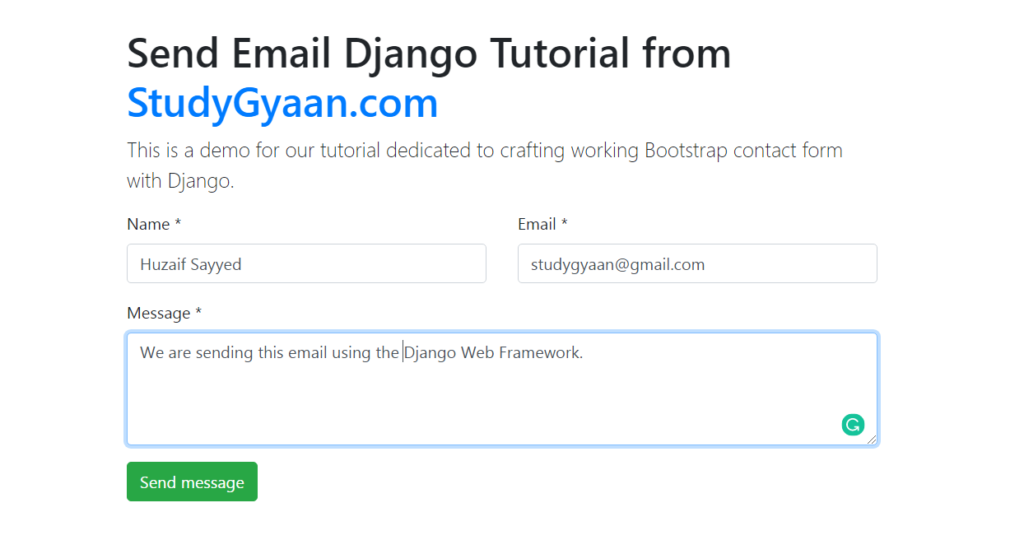 How to send email in django