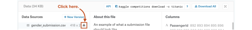 Kaggle Titanic Project Getting Started  Download Dataset