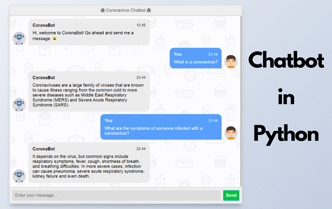 Chatbot in Python, Flask, Django, Chatterbot
