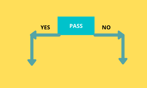 Information gain of pass is high.